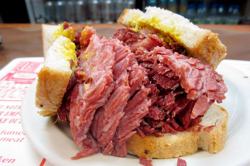 The best smoked meat and bagels are from Montreal!