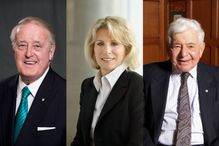 Brian Mulroney; Elizabeth Cannon; and Calvin Carl Gotlieb.