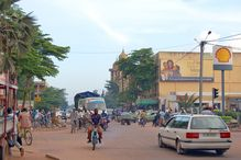 A street scene in Ouagadougou, capital of the western African nation of Burkina Faso, which ranks 26th out of 54 in the new Index of African Emergence.