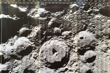 Bettina Forget, «Lunar Orbiter 4 mission print», 1966/2017, impression photographique sur papier Kodak.