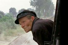 "Henrik Gawkowski, ""the trainman of Treblinka,"" in an outtake from Claude Lanzmann's 1985 film Shoah."