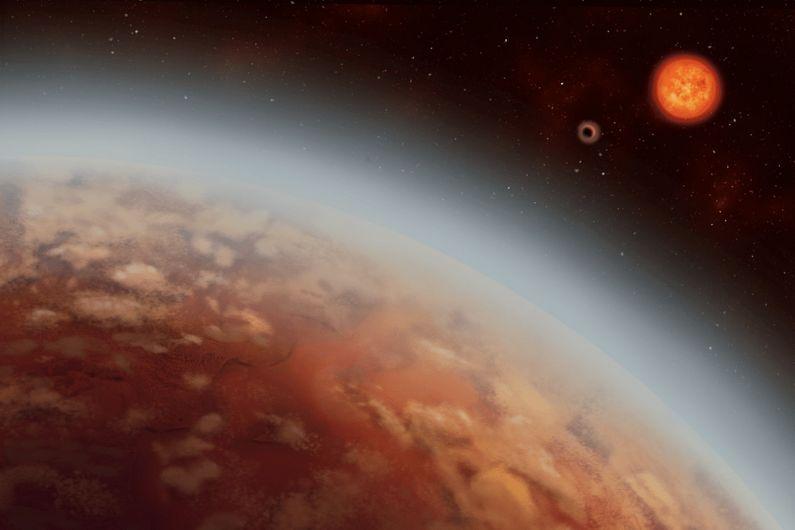 An artistic representation of the exoplanet K2-18b.