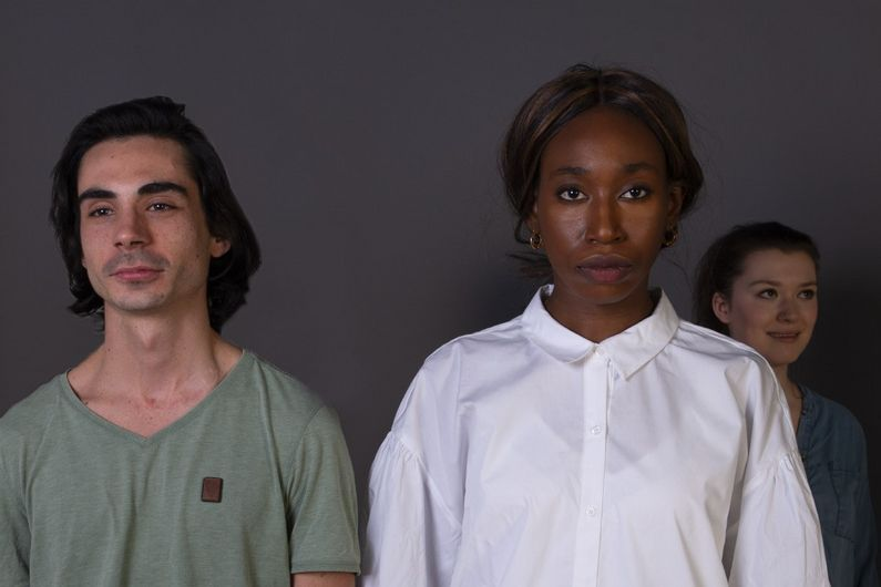 Léo Domingue, Yardley Alexis et Gabrielle Desmeules