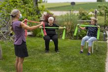 Physiotherapy in groups is as effective as standard individual physiotherapy to treat urinary incontinence in older women.