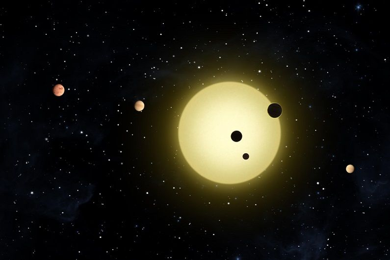 Kepler-11 is a sun-like star around which six planets orbit.