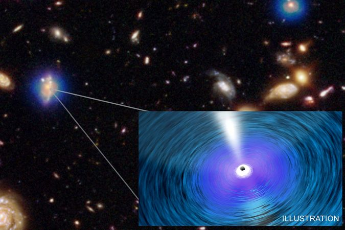 "Illustration of an ""ultramassive"" black hole detected by the team of astrophysicists."
